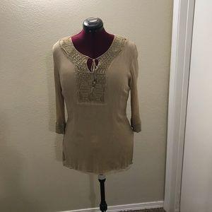 Crinkle Fabric Tunic